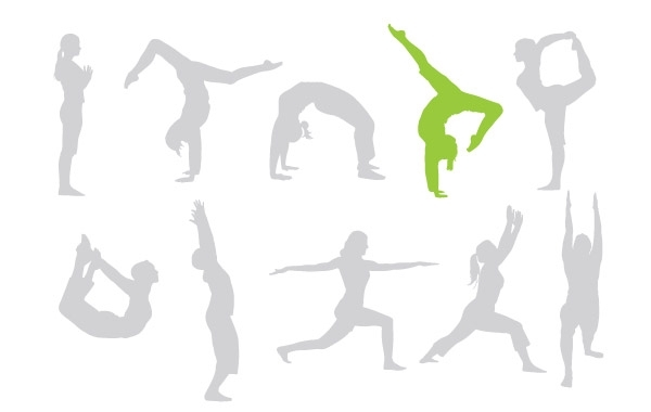 Free Vectors: Free keep fit vectors give your designs a workout! | spoongraphics