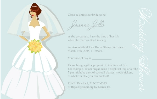 Free Bridal Shower Card