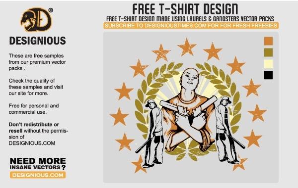 Free Gangsta T-Shirt Design