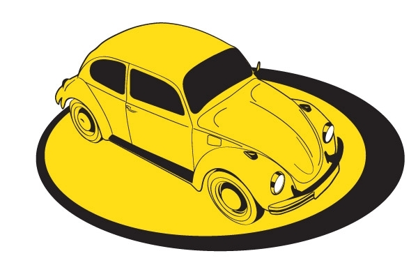 Free Yellow Volkswagem Beetle on platform