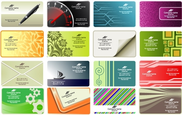 Free Free vector business card templates