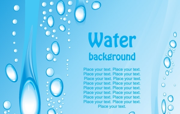 Free Beautiful blue water background