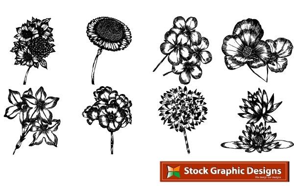 Free Free beautiful vector flowers pack. In pack 15 flower designs in eps format