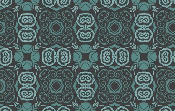 Free Bluish Floral Wallpaper