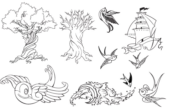 Free Tattoo Vector Set