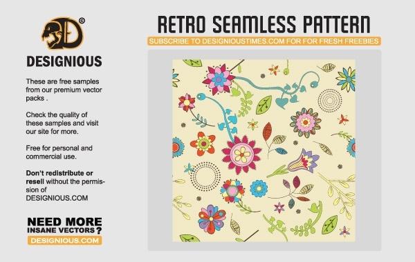 Free Seamless Retro Vectors