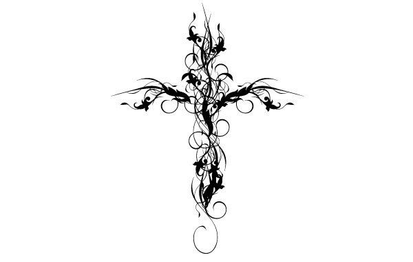Free Floral Cross