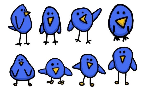 Free Vectors: 8 Cute & Simple Twitter Bird Graphics | spoongraphics