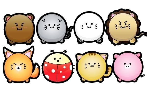 Free Cute Puffy Animals