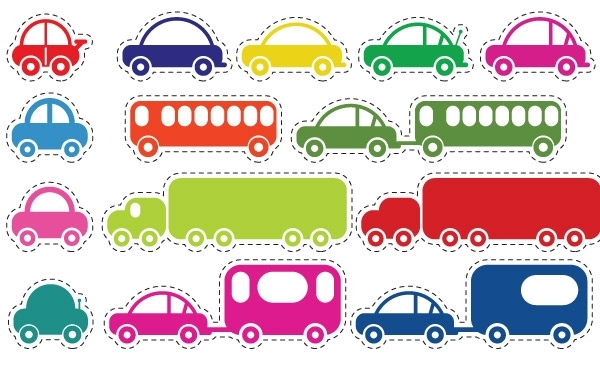 Free Toy Cars and Bus Vector