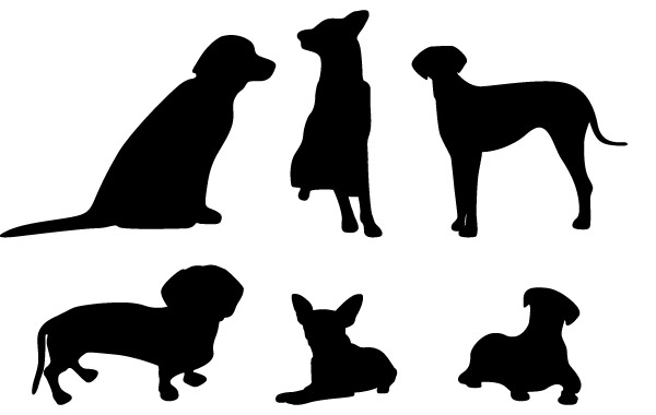 Free 13 Dog Vector Silhouettes