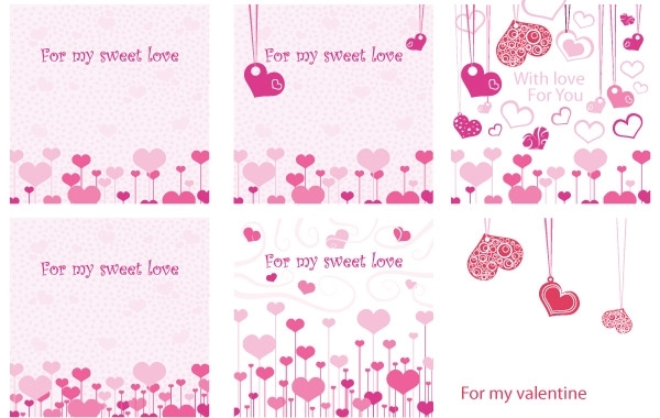 Free For my Sweet Love Valentine E-Cards Vector