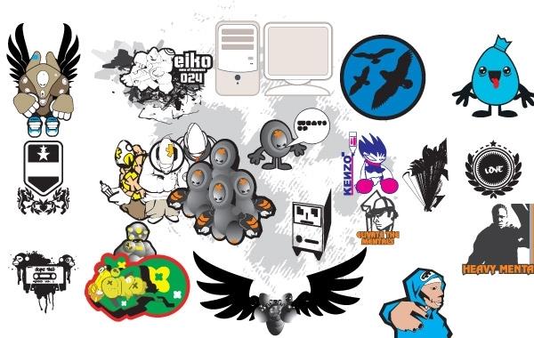 Free random vectors & doodles