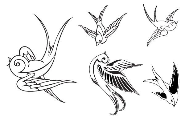 Free VECTOR BIRDS - SPARROWS