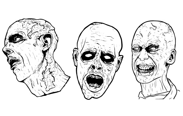 Free 3 Free Illustrated Scary Zombie Vector Graphics
