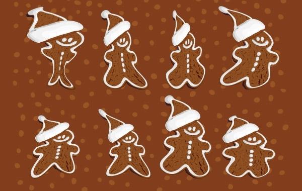 Free Gingerbread Cookies Vector