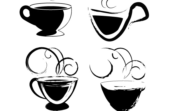 Free Coffee cups drawings