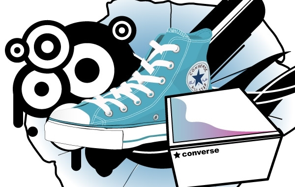 Free Converse shoe and box