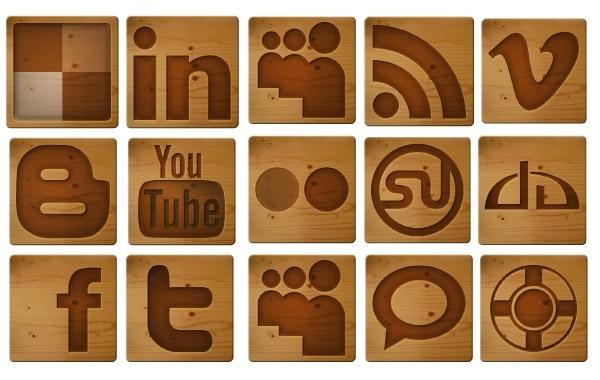 Free Free Social Media Woodcut Icons