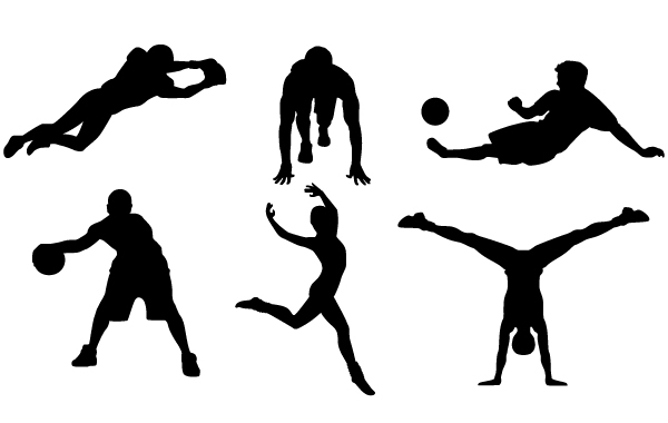 Free 9 FREE SPORTS VECTOR SILHOUETTES