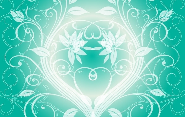 Free Swirly light green background