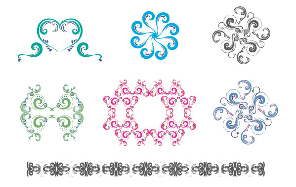 Free New free set: Colorful ornaments & patterns