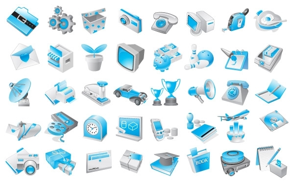 Free Free Vector Blue Icons