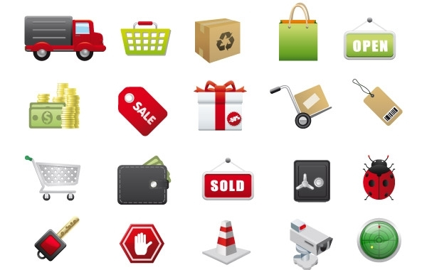 Free E-Commerce Vector Icons