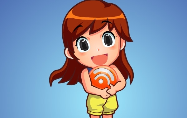 Free Vectors: Free Vector Character RSS Orb Girl | Kuswanto