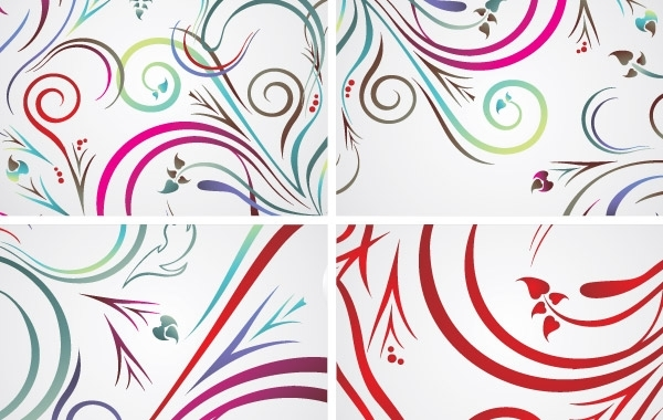 Free Colorful floral backrounds