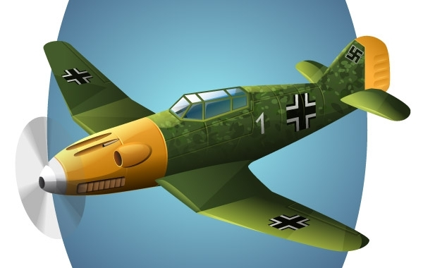 Free BF-109 Plane vector