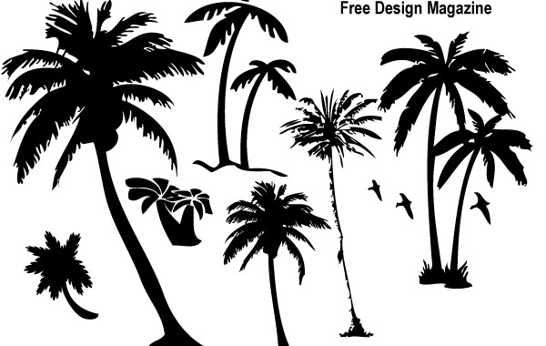 Free Palm Trees Silhouettes 3