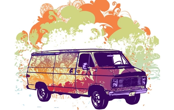 Free Free psychadelic van vector illustration