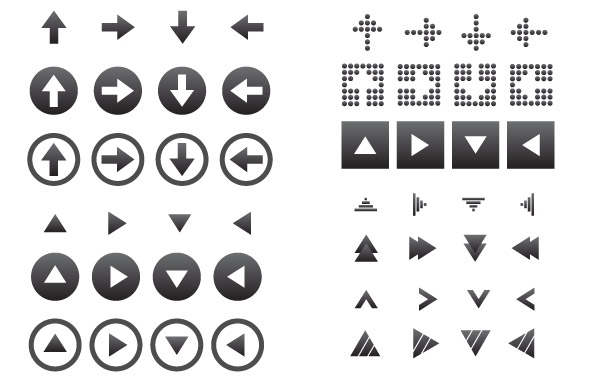 Free Vectors: 64 Vector Arrow Icons | GoSquared