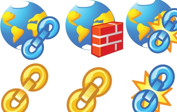 Free Globe and chain Icons