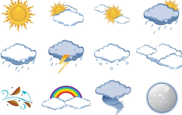 Free FREE VECTOR WEATHER ICONS