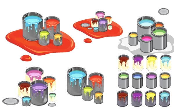 Free Paint Cans Vector
