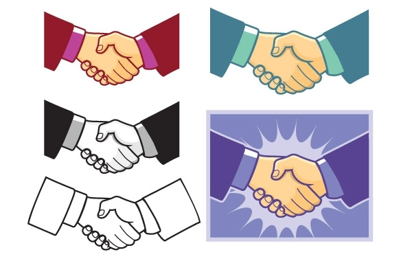 Free Handshake Vector