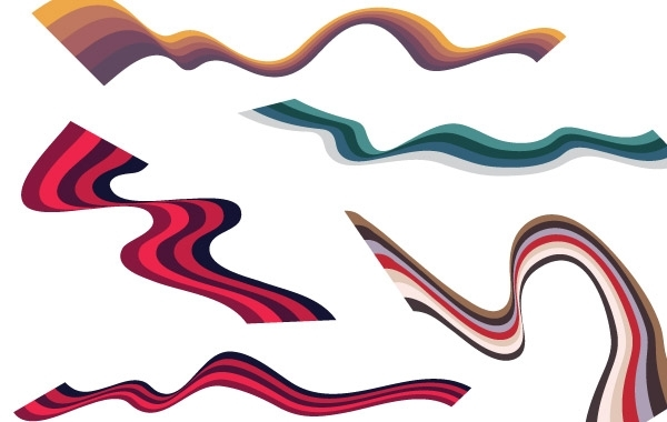 Free Free Wavy Vector Ribbon Graphics