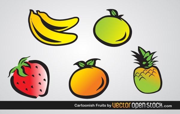 Free Cartoonish Fruits