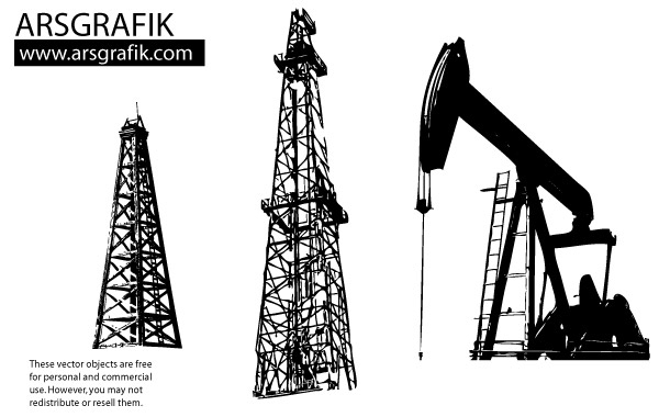 Free Oil well Vectors