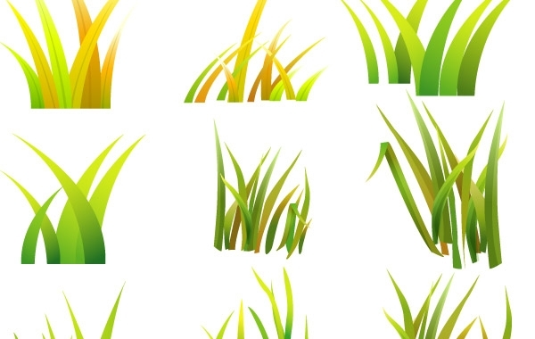 Free Vector Grass styles