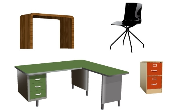Free Office furniture Vectors