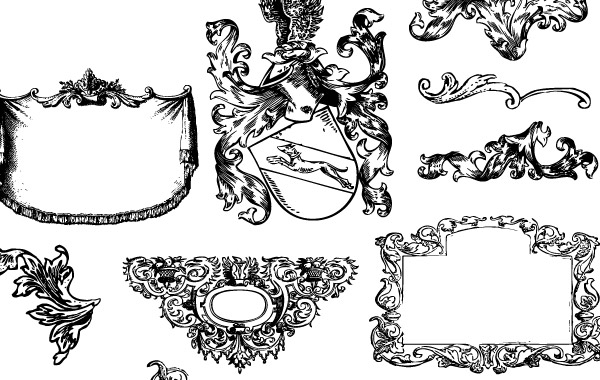 Free Heraldry and Flourishes