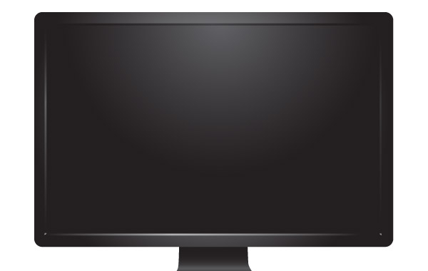 Free Desktop Monitor Vector