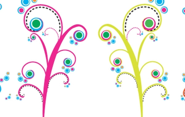 Free Colorful Swirls Vectors