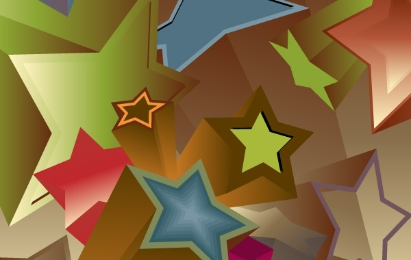Free Vintage 3D Stars