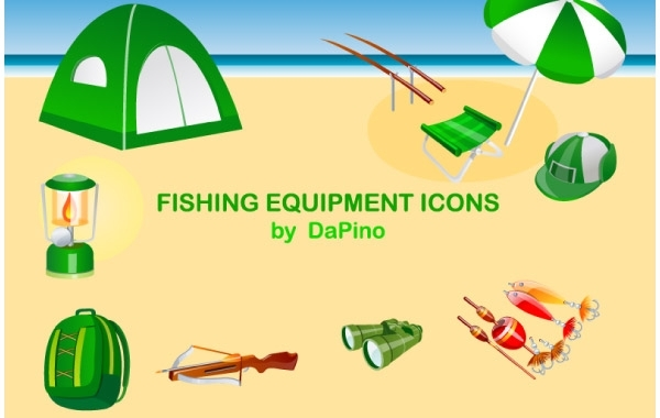 Free Fishing Equipment Icons