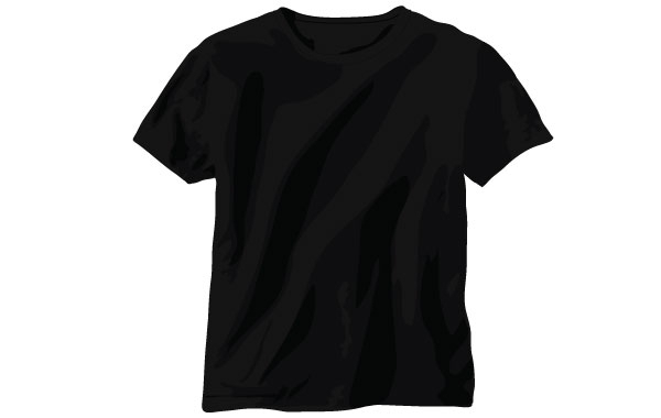 Free Black Vector T-Shirt