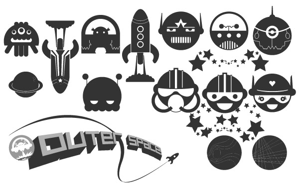 Free Happy Space Vector Pack